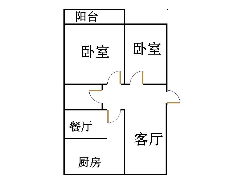 十三局宿舍东区 2室1厅 3楼