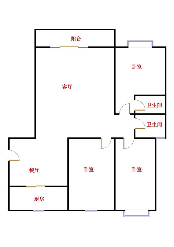 东方明珠小区 3室2厅 9楼