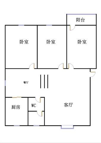 新城市花园小区 3室2厅 5楼