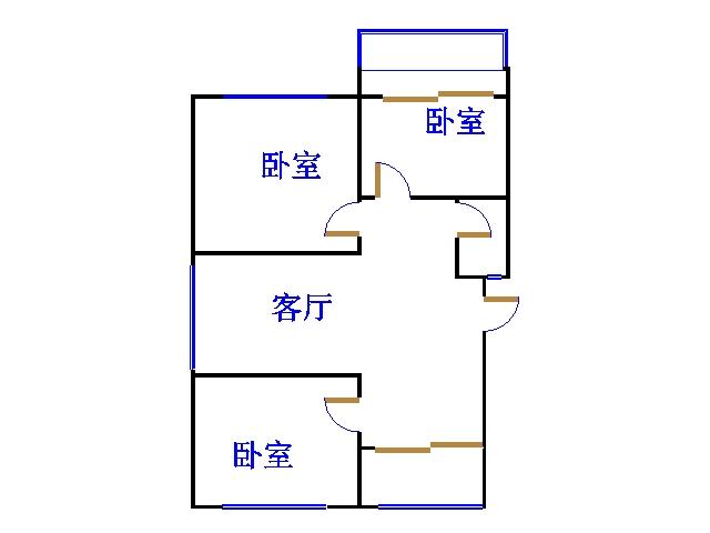 金光集团宿舍 3室2厅  简装 75万