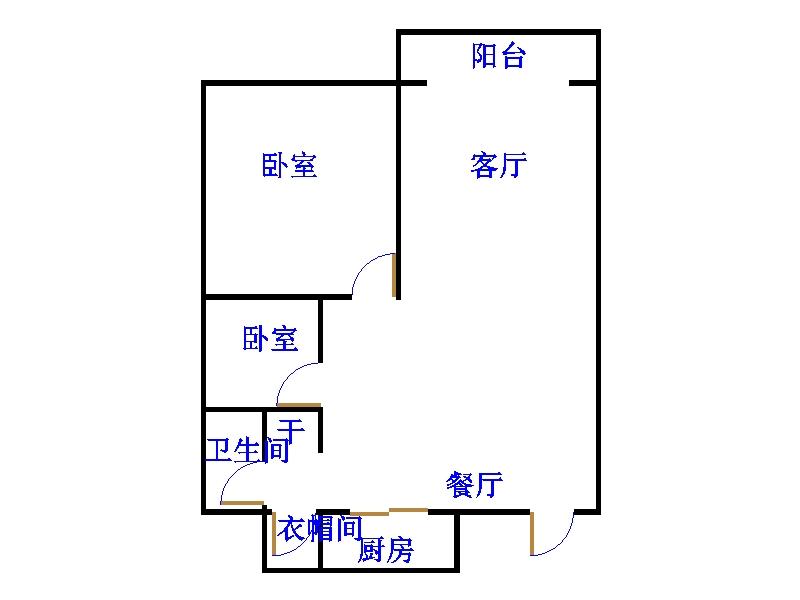 万达广场 2室2厅 16楼