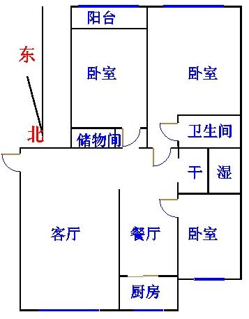 康博公馆 3室2厅 3楼