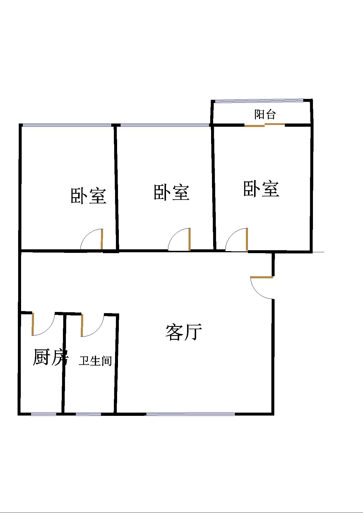 盛和景园 3室2厅 1楼