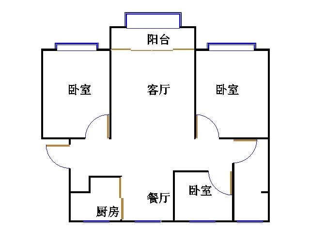 中建华府(欧香丽都) 3室2厅 6楼