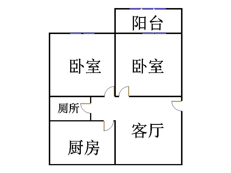 嘉和居 2室1厅 6楼