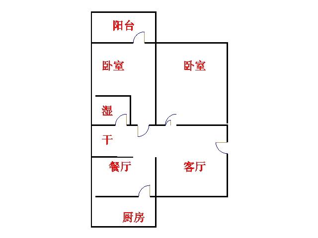 石化家园 2室2厅 5楼