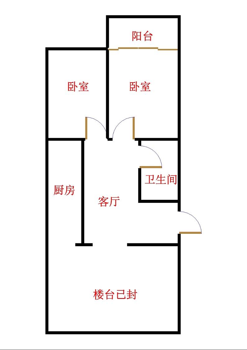 惠风家园 2室0厅  简装 20万