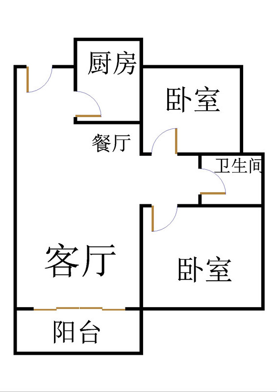 唐人中心 2室2厅 24楼