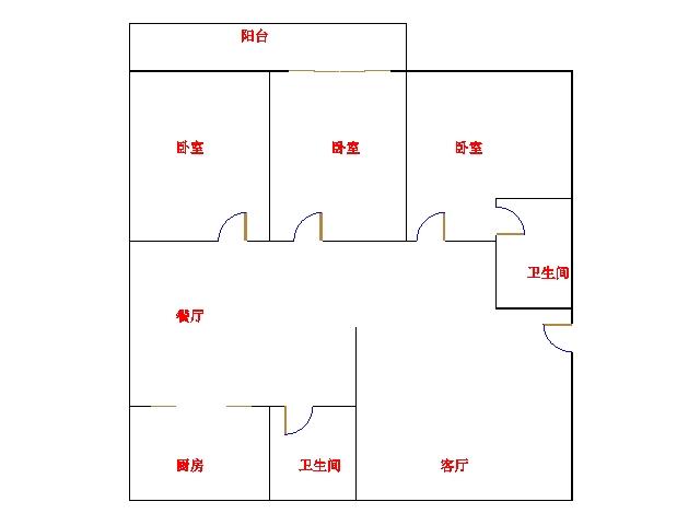 金茂豪庭 3室2厅 1楼