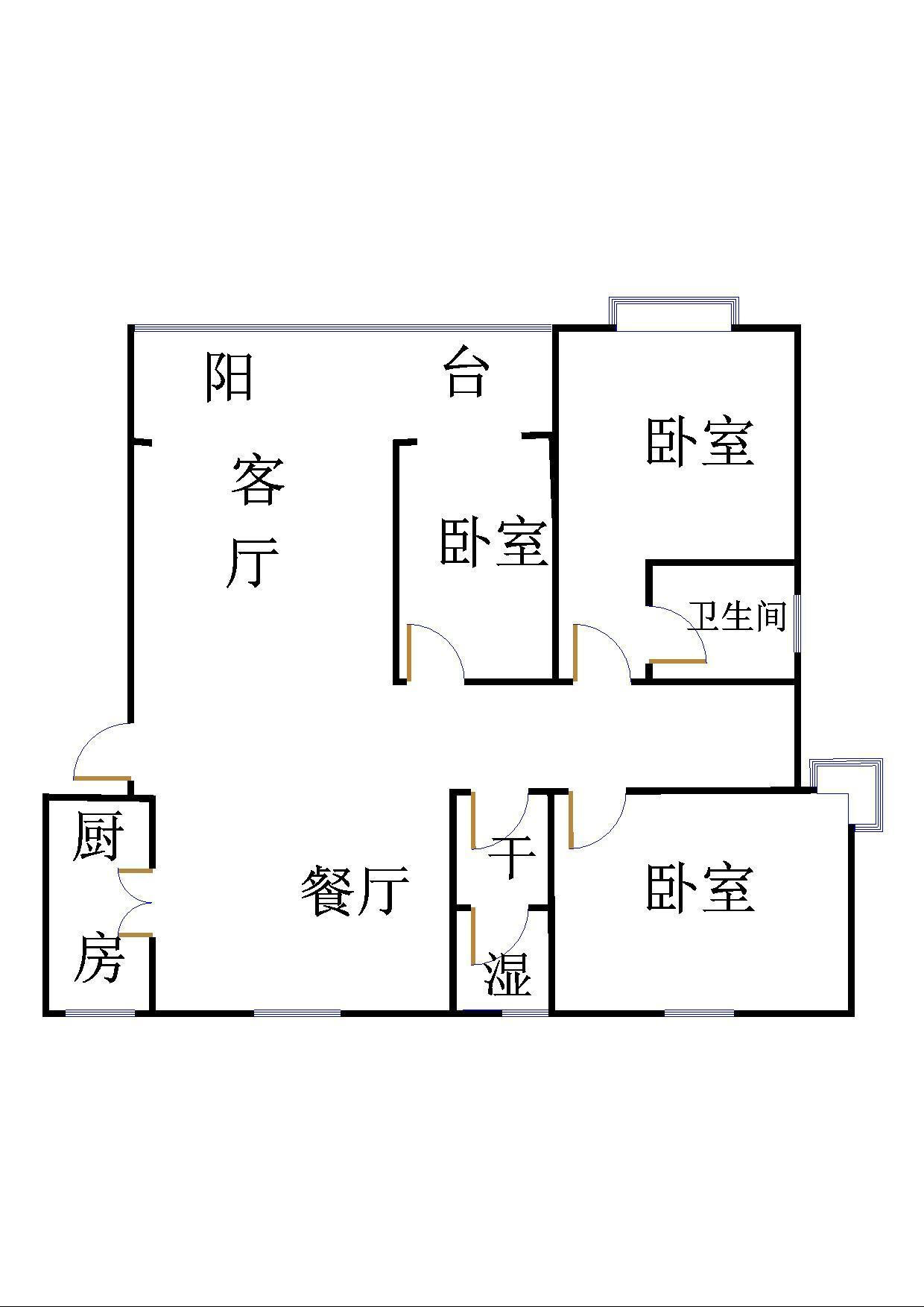 嘉城盛世 3室2厅 7楼
