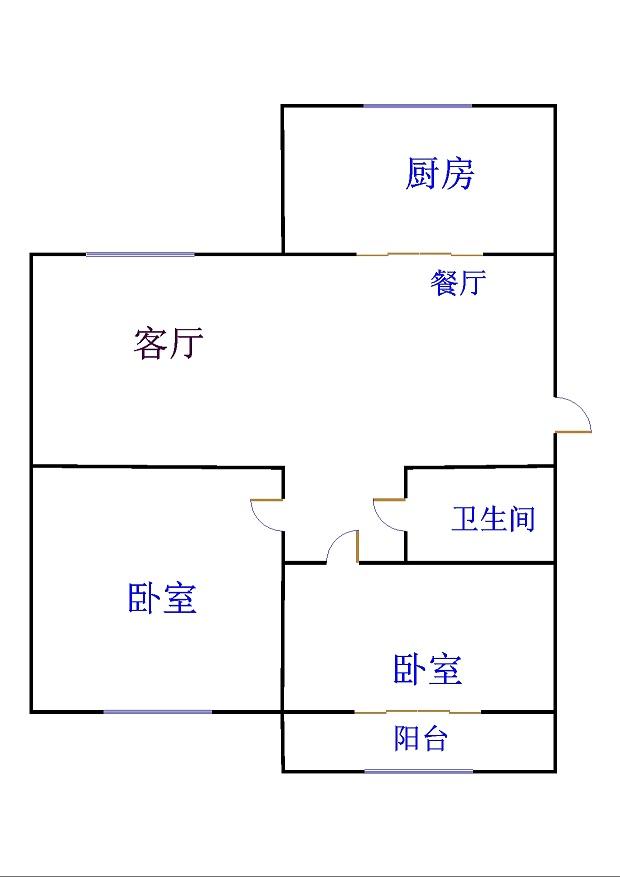 嘉城名居 2室1厅 1楼