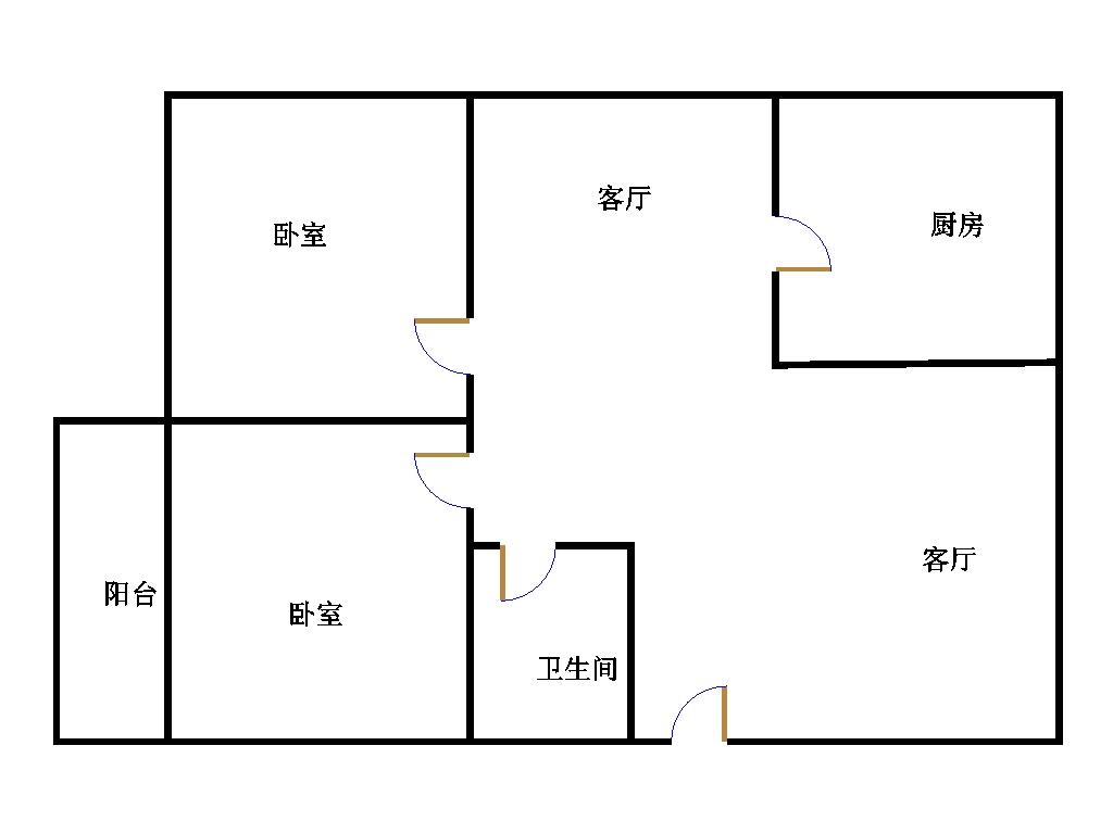领秀天衢 2室2厅 2楼