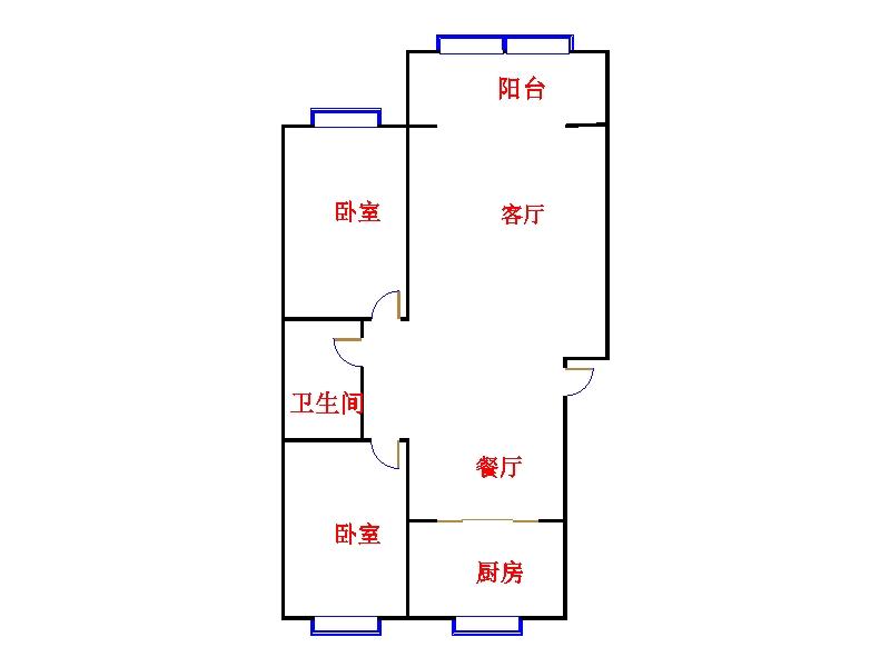 乾城尊府 2室2厅  简装 81万