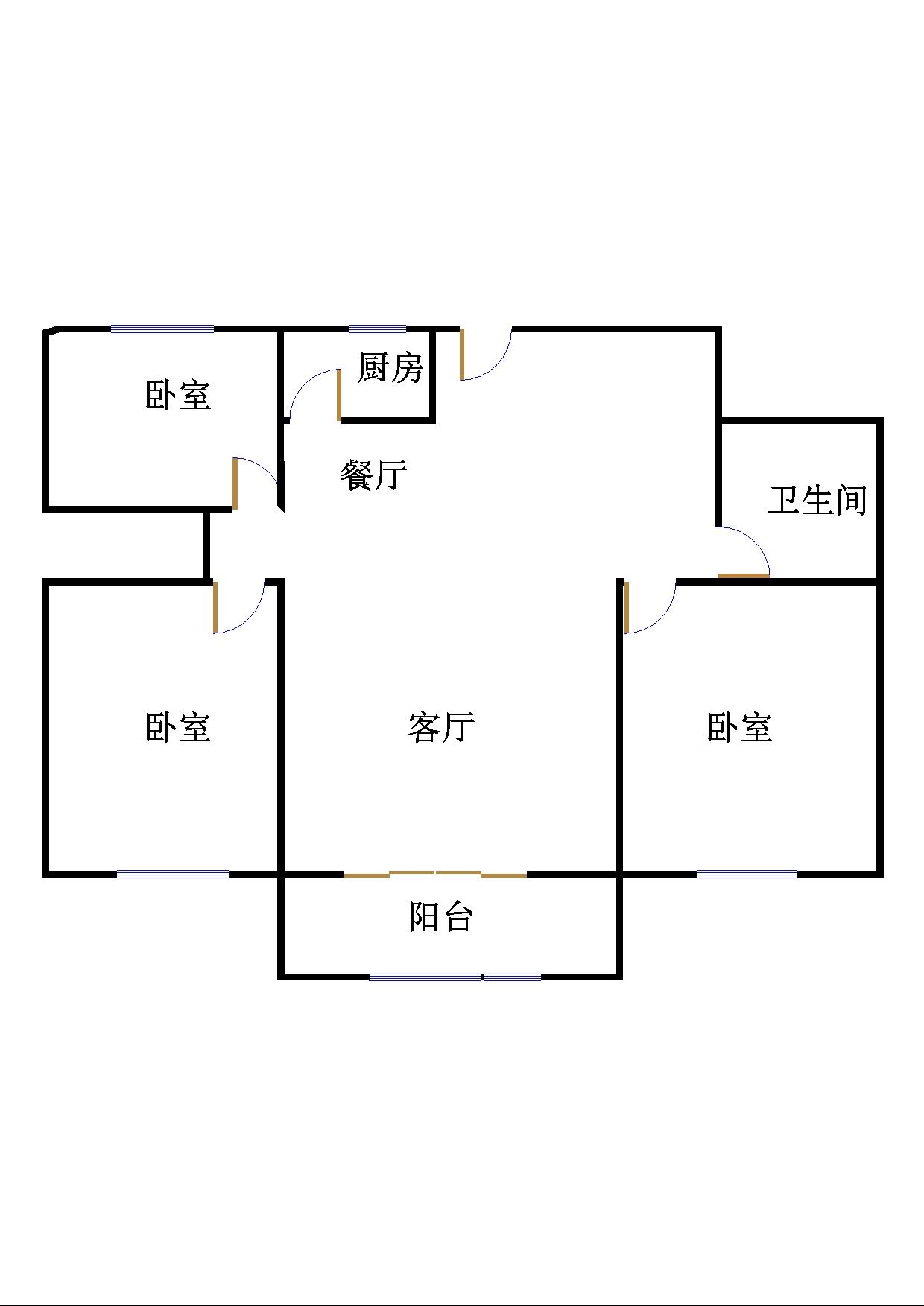 嘉城盛世 3室2厅 8楼