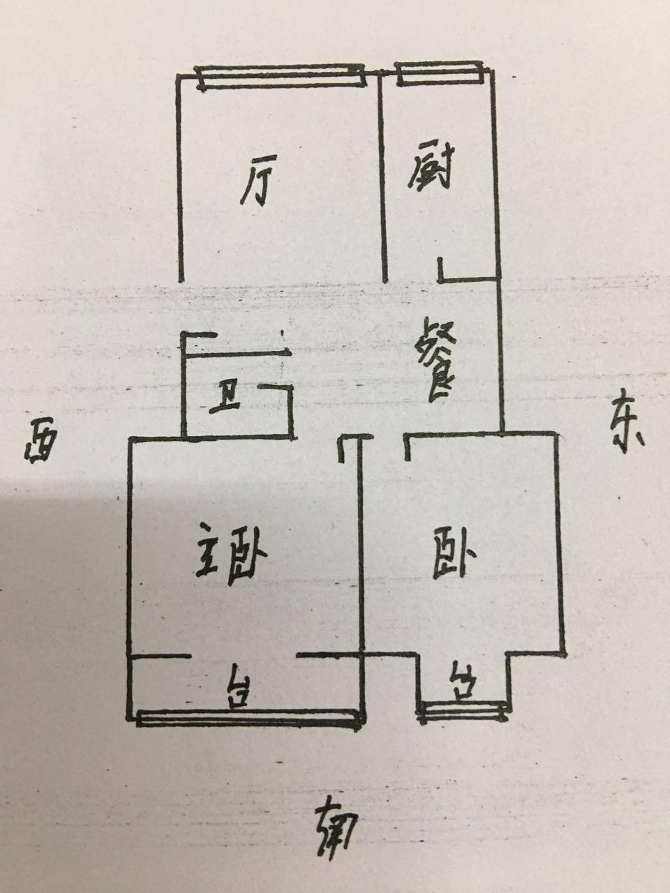 郭家庵小区 2室2厅 3楼