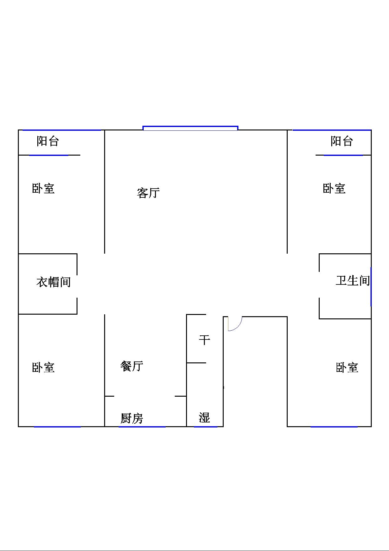 长青小区 4室2厅 双证齐全过五年 简装 180万