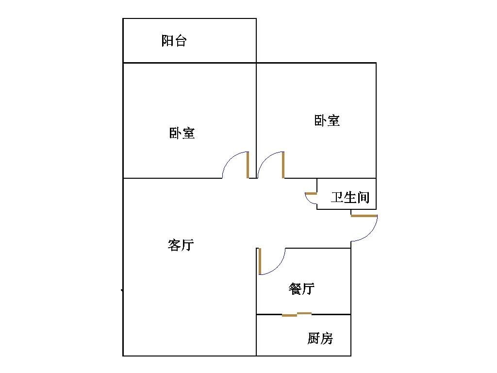 罗庄新区 2室2厅 3楼
