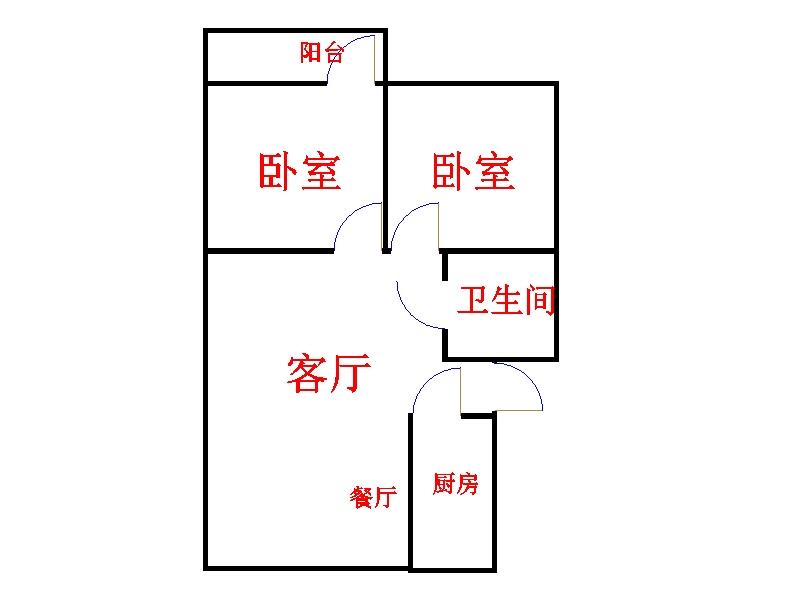 永盛家园 2室2厅 6楼
