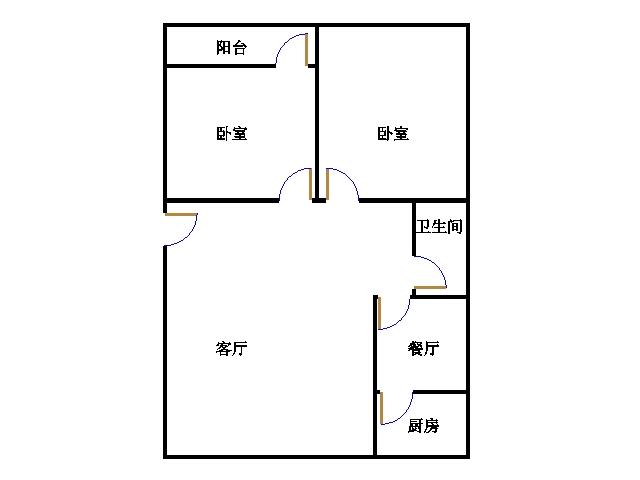 百瑞家园 2室1厅 1楼