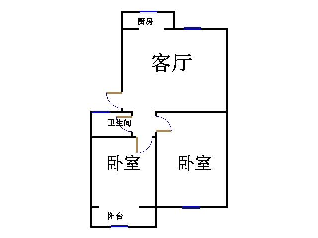 新领域国际花园 2室1厅 5楼