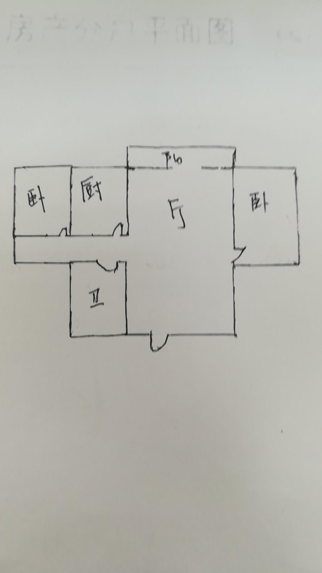 水文队宿舍 2室1厅 双证齐全 简装 56万