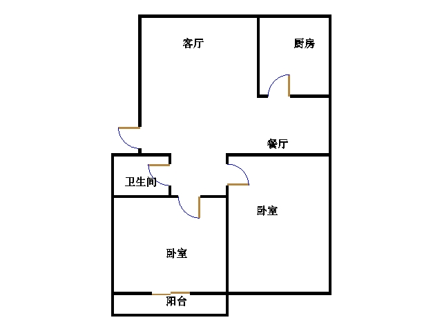 通源宿舍 2室2厅 2楼