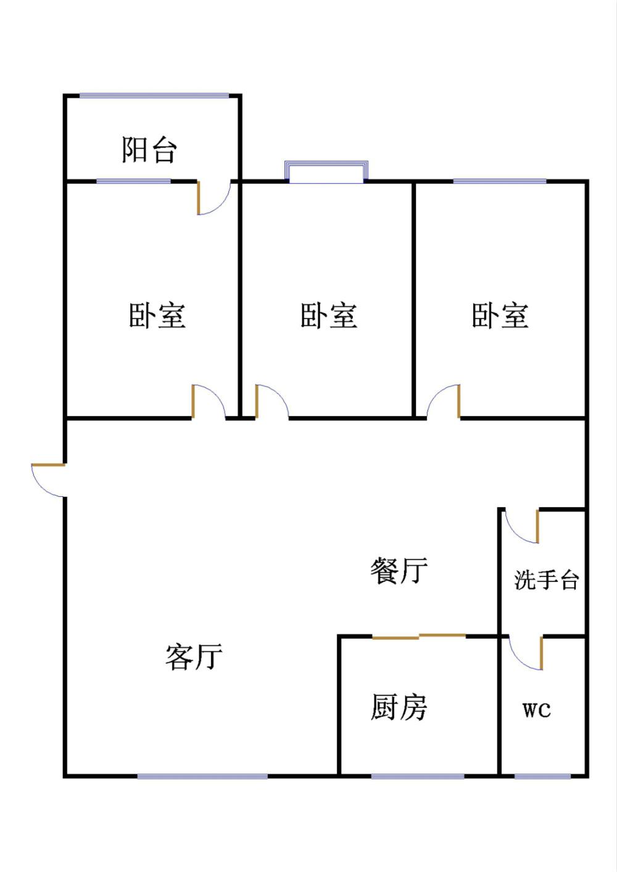 天华锦绣园 3室2厅  简装 83万