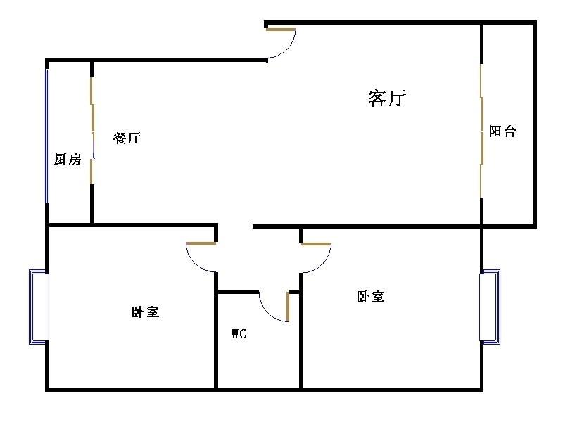 嘉泰园 2室2厅 1楼
