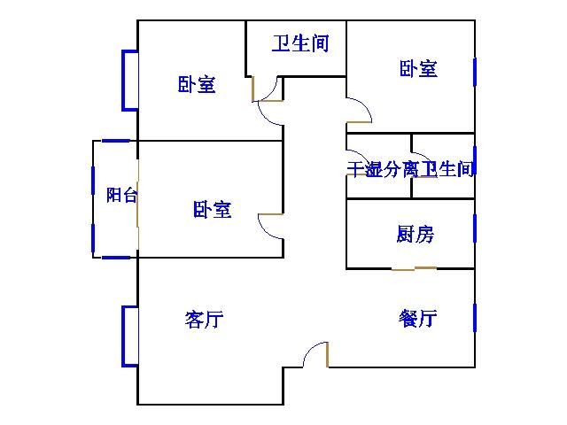 南龙国际花园 3室2厅 过五年 简装 140万