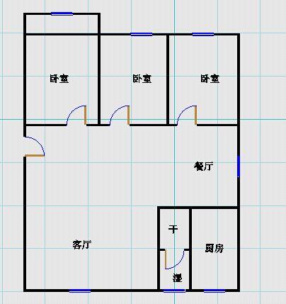 嘉城名居 3室2厅 2楼