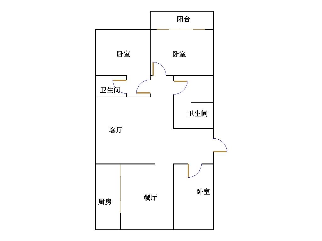 盛世华园 3室2厅  简装 140万