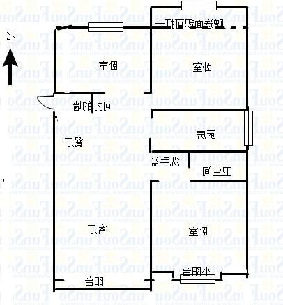 万达广场 3室2厅 5楼