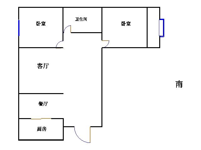 金色雅园 2室1厅 3楼
