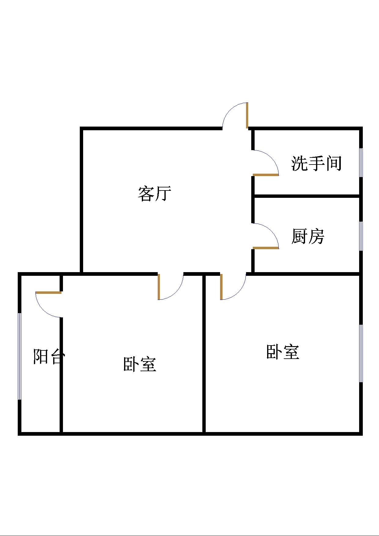 刨花板厂宿舍 2室1厅 过五年 简装 33万