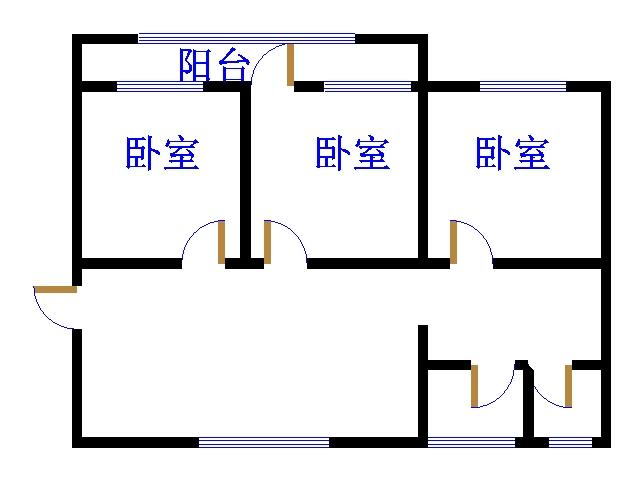 青龙潭小区 3室2厅  简装 125万
