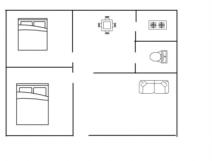 电动车市场 2室2厅 4楼