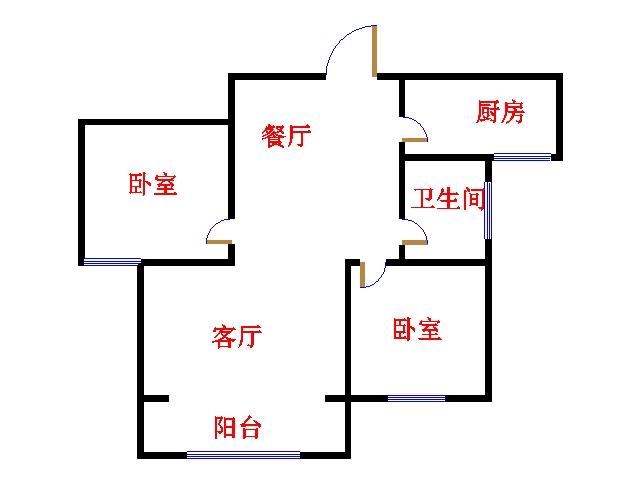 佰利金湖湾 2室1厅 18楼