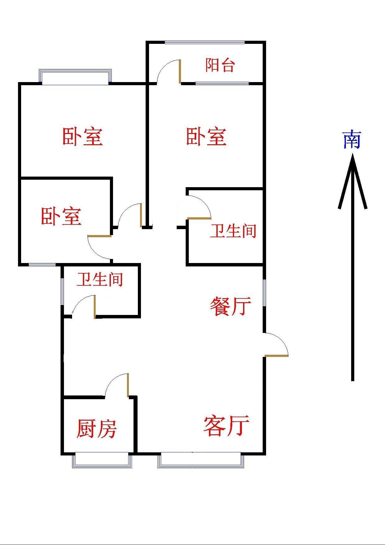 盛世华园 3室2厅 12楼