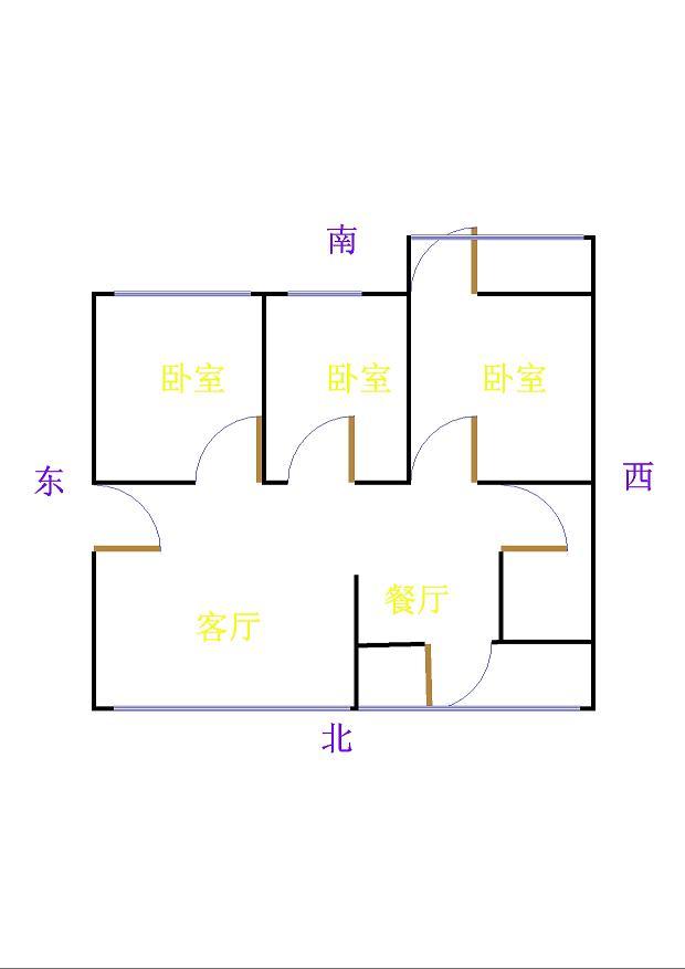 肖何庄小区 3室2厅 双证齐全 简装 76万