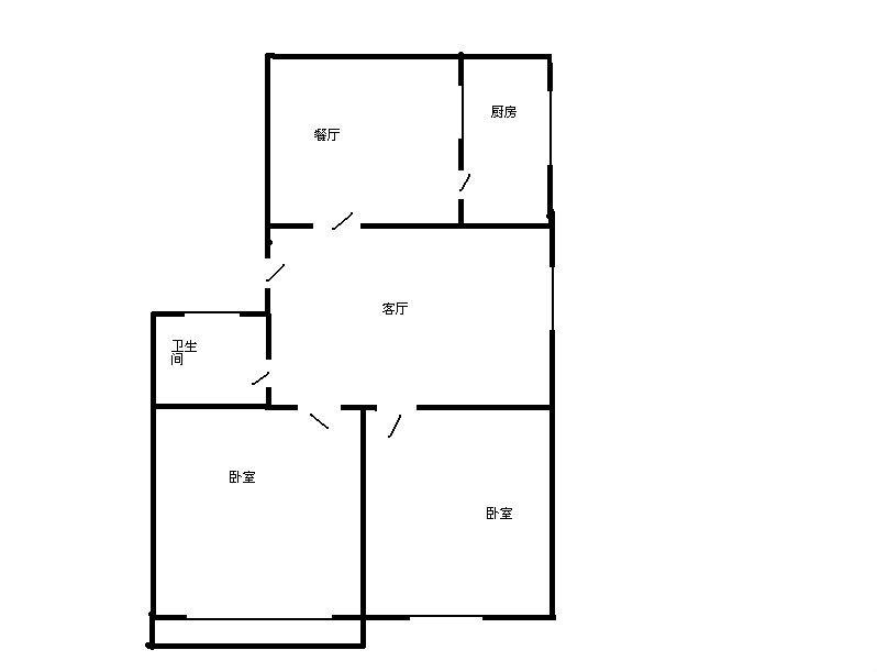 芙蓉丰顺苑 2室2厅 5楼