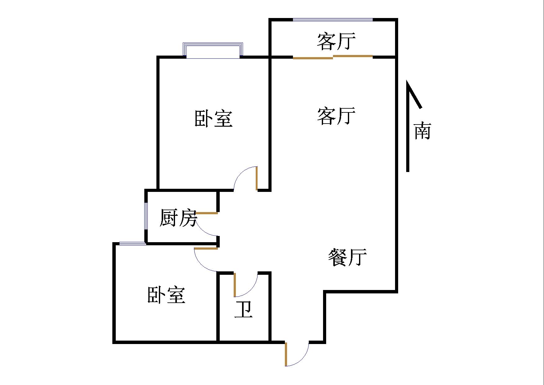 嘉城盛世 2室2厅 17楼