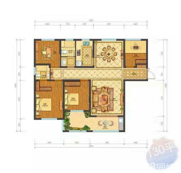 华嬉庄园 4室2厅  毛坯 170万