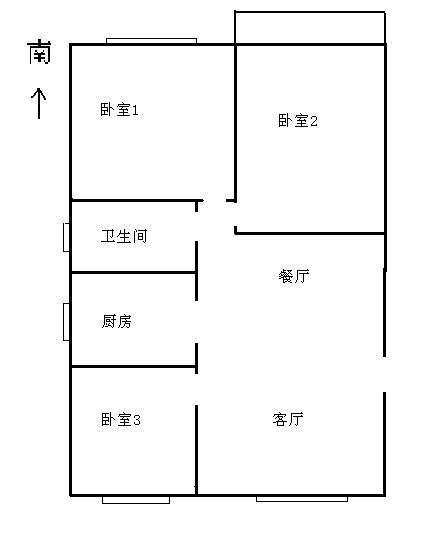 高地世纪城 3室2厅 4楼