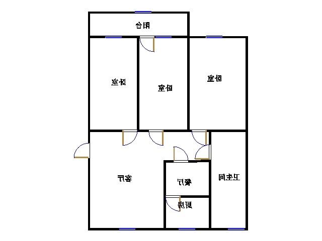 区直小区 3室2厅 5楼