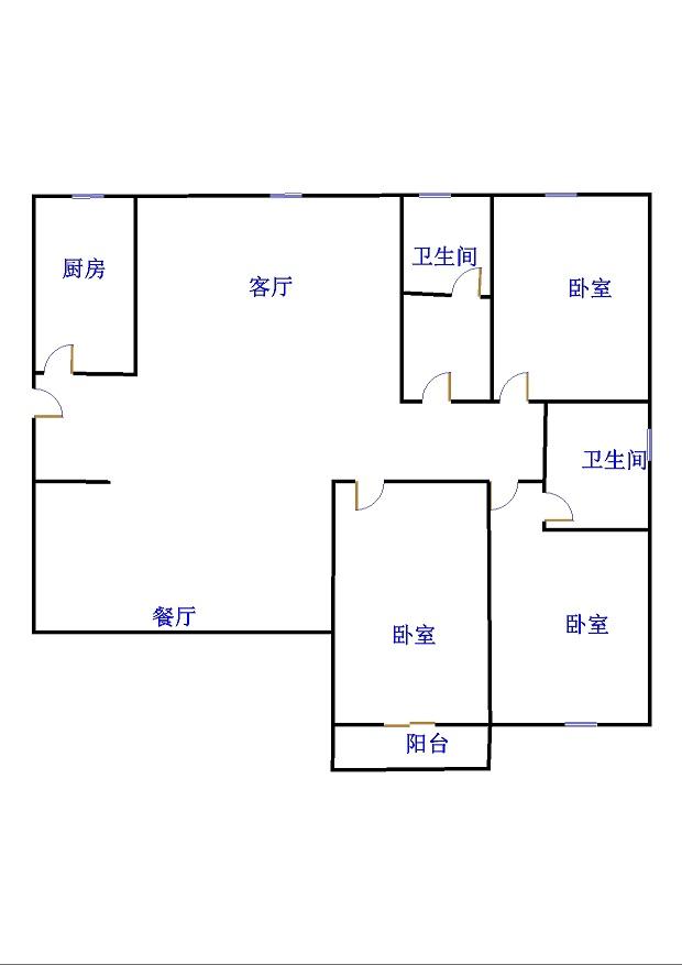嘉城盛世 3室2厅  精装 130万