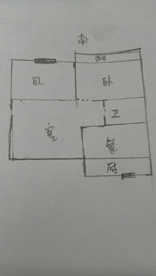 石化家园 2室2厅 4楼