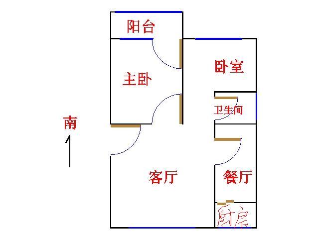 邹李小区 2室2厅  简装 68万