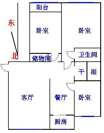 康博公馆 3室2厅 9楼
