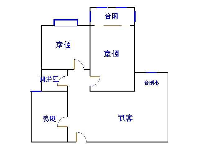 盛和景园 2室2厅 15楼