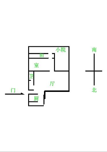 建兴小区南 1室1厅 1楼